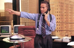 Michael Douglas as an douc...I mean, Gordon Gekko