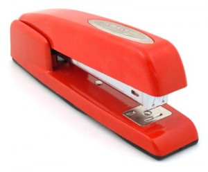 Red Swingline Stapler. Classic.