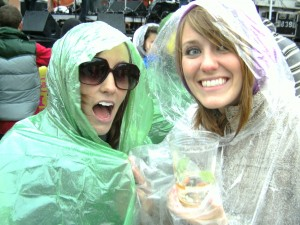 'Twas a rainy weekend. Rain poncho high-5.